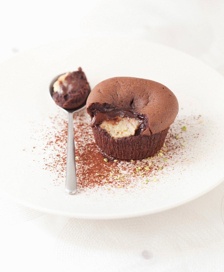 Chocolate and eggplant fondant