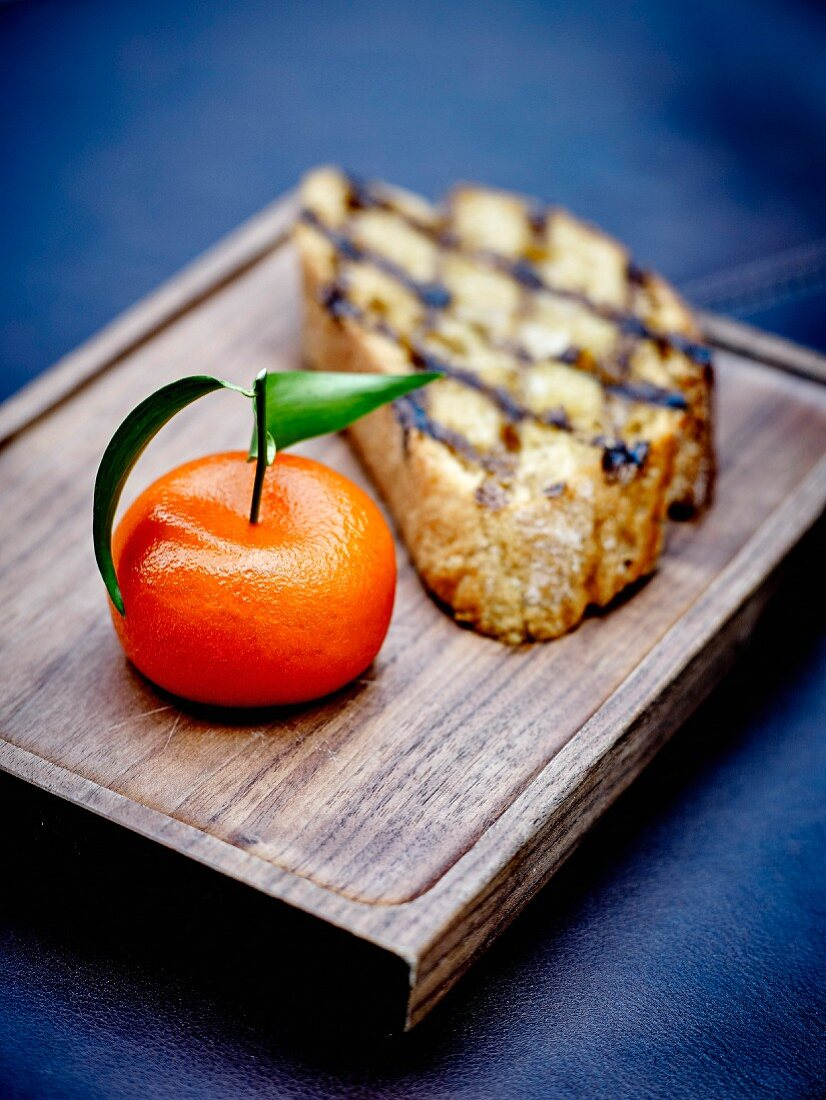 Meat fruit : mandarin orange, toast and duck liver mousse at the Dinner restaurant by Heston Blumenthal in London