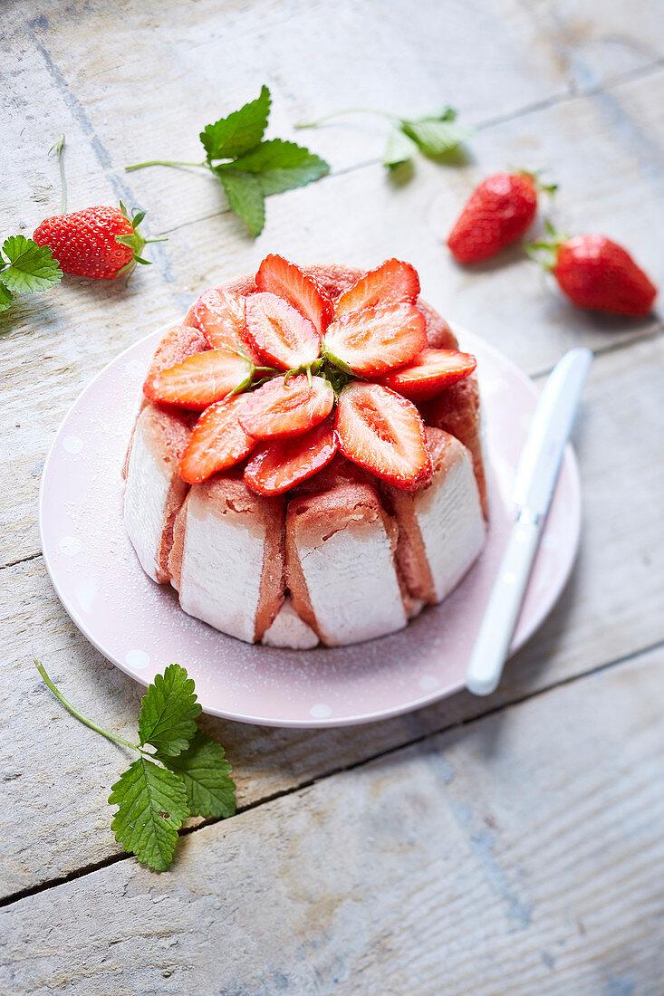 Mini strawberry charlotte