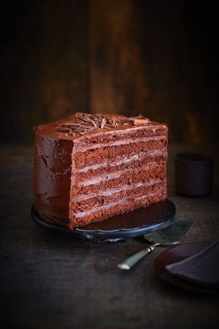 All chocolate layer cake
