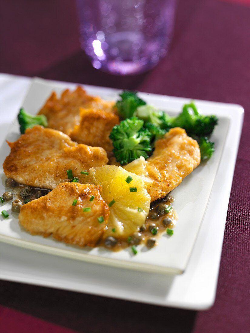 Veal piccata with lemon