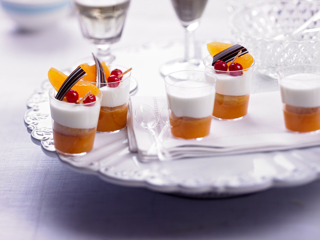 Panna cotta and apricot Verrines