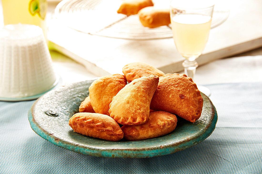Sweet ricotta and limoncello Panzerotti