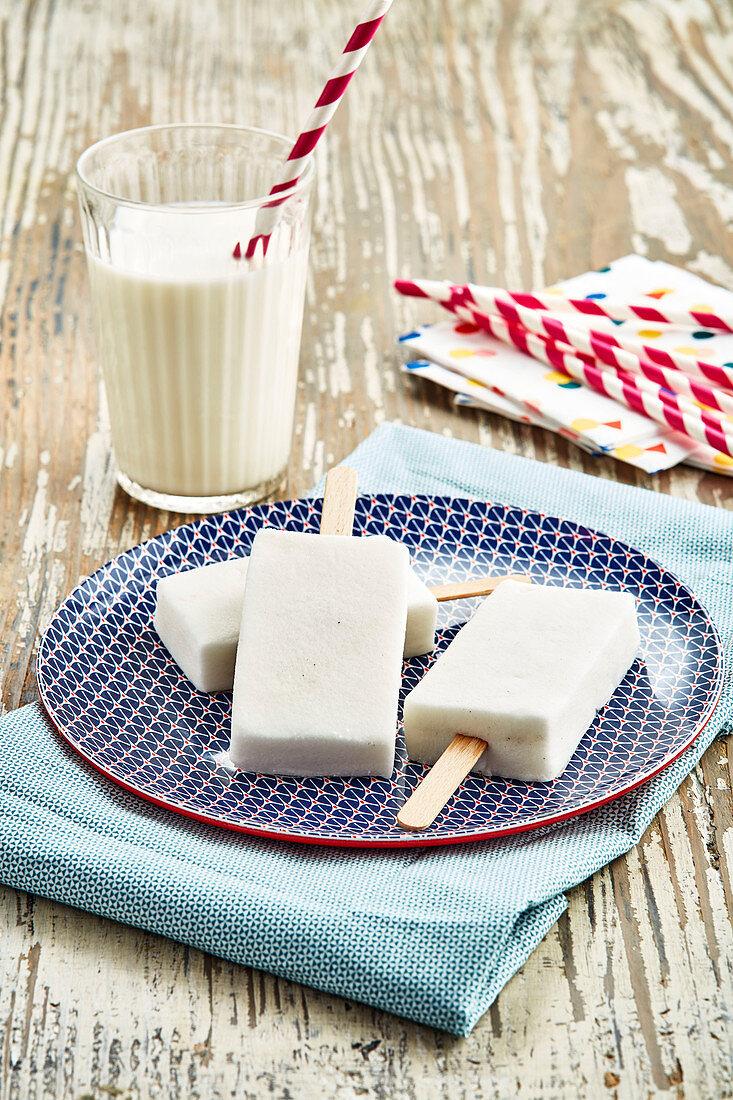Milk ice cream bars