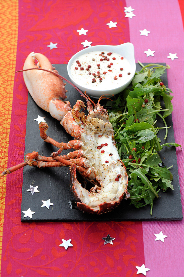 Warm Lobster With Cream And Pink Pepper