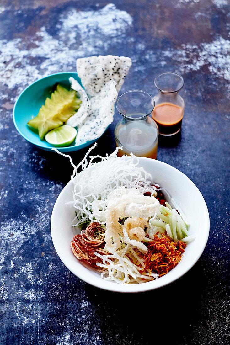 Indochina dish at the Stateside Restaurant,Seattle,United States