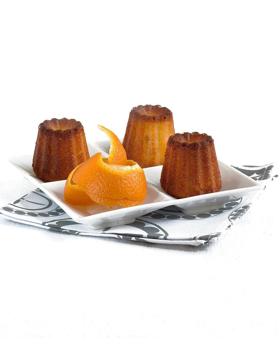 Cannelé-style orange cakes