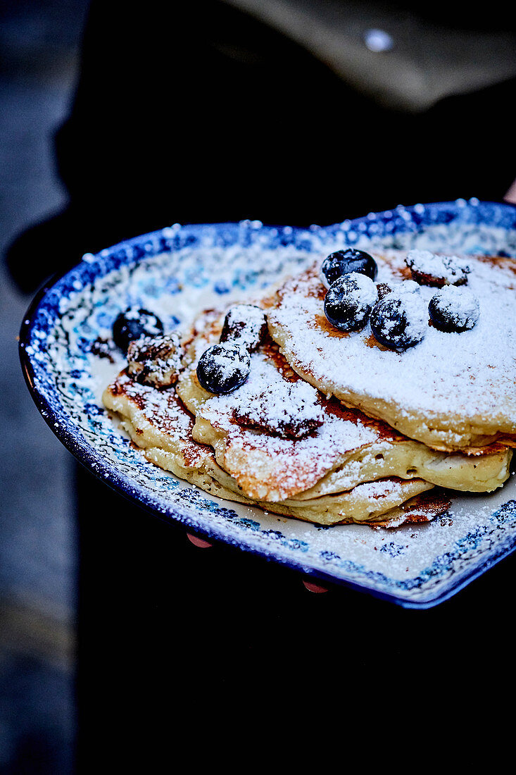 Pancakes With Ricotta And Blueberries