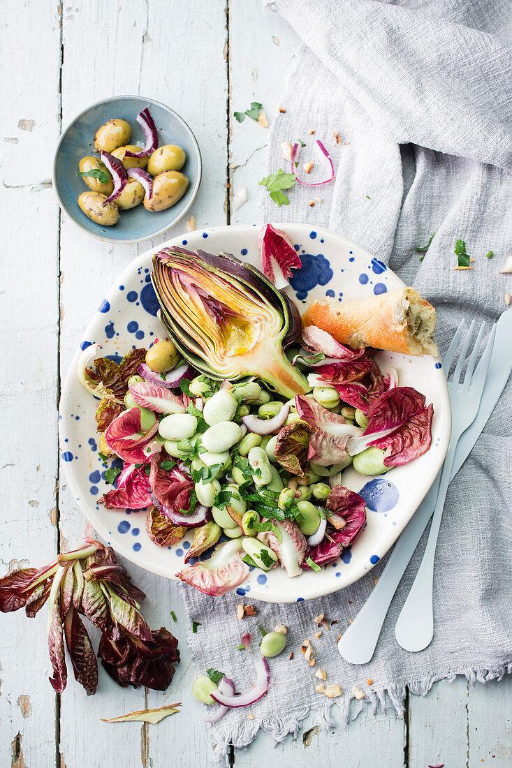 Artichoke And Broad Bean Salad
