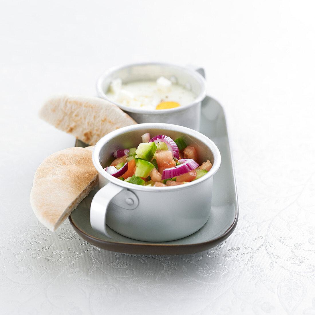 Cretan-style shirred eggs