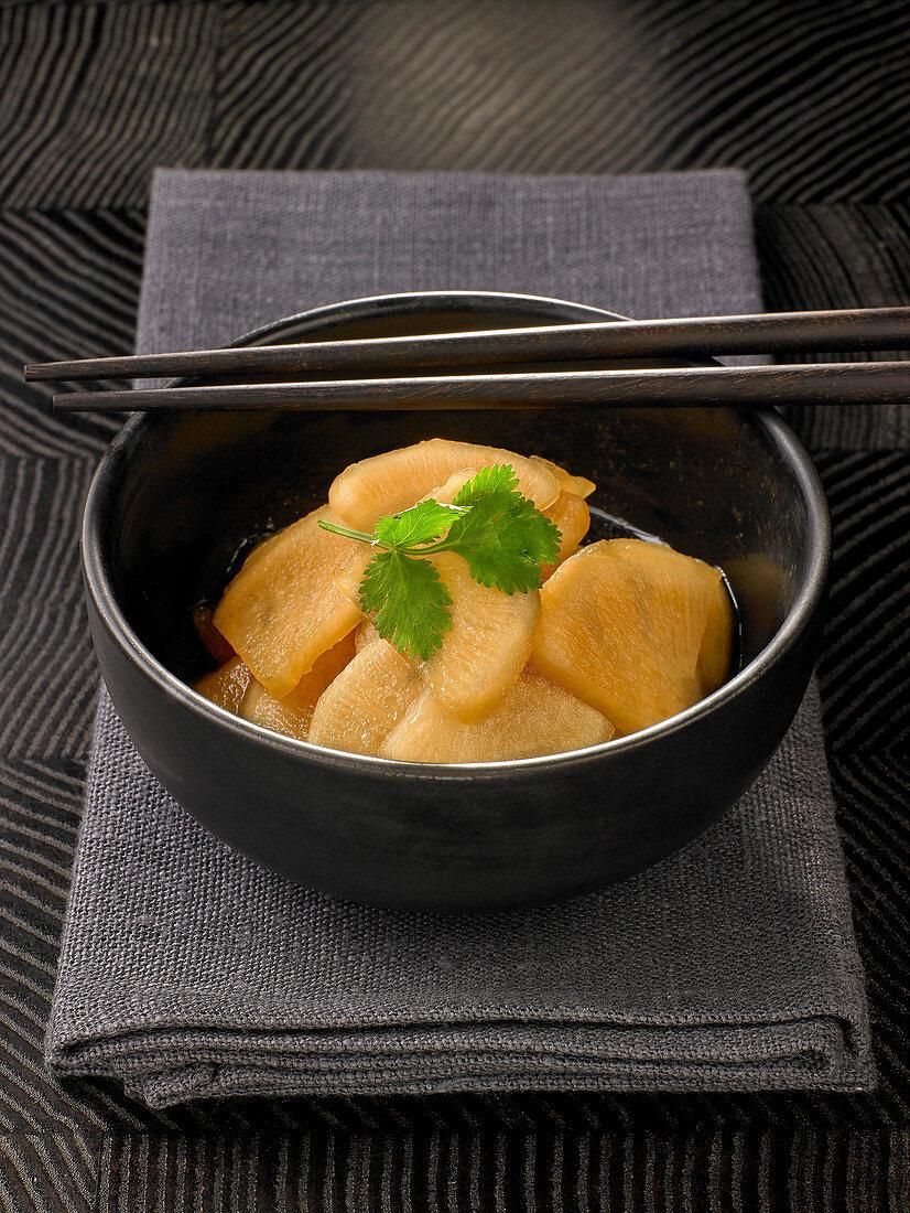 Asian radish salad