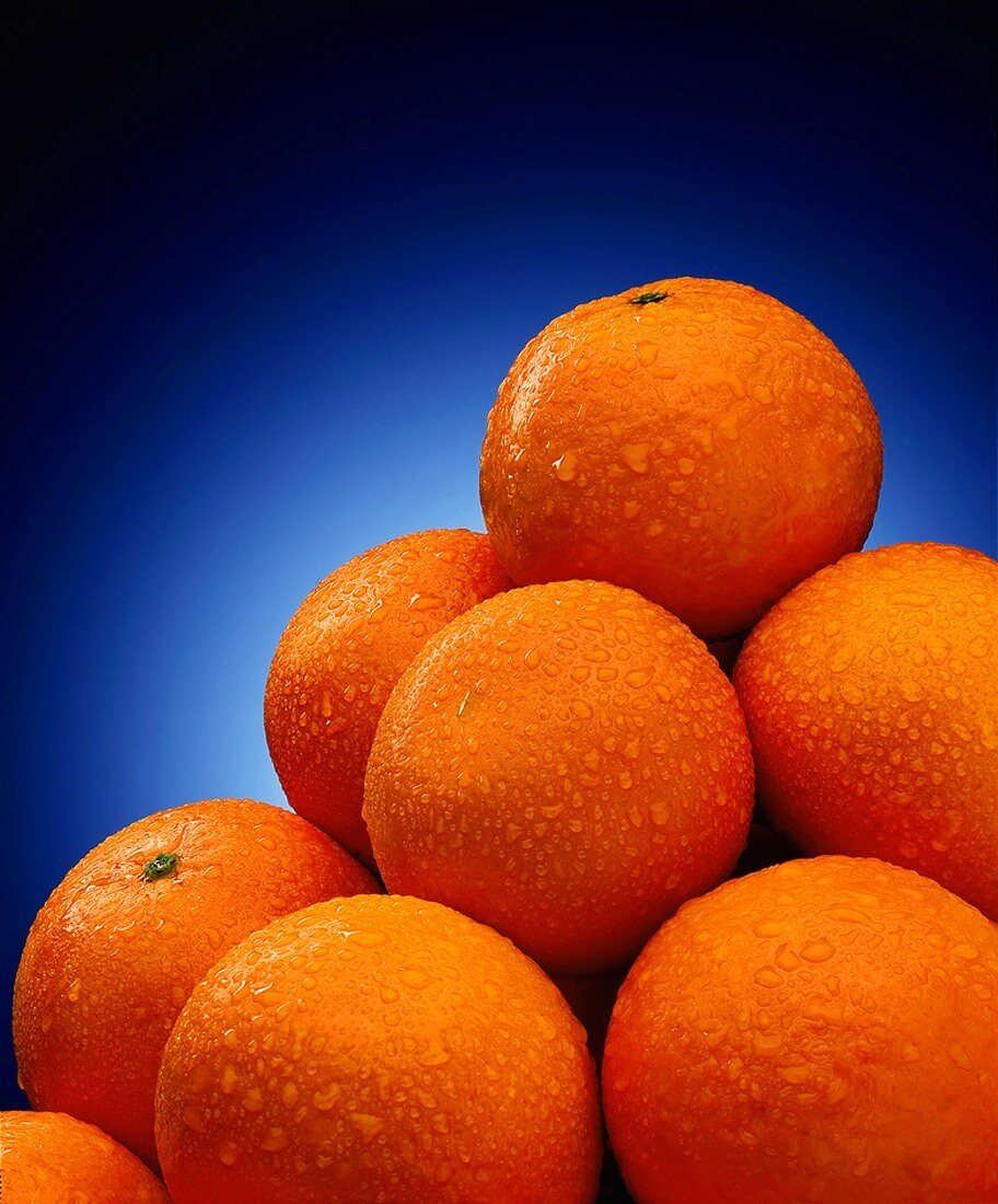 Pile of Wet Temple Oranges