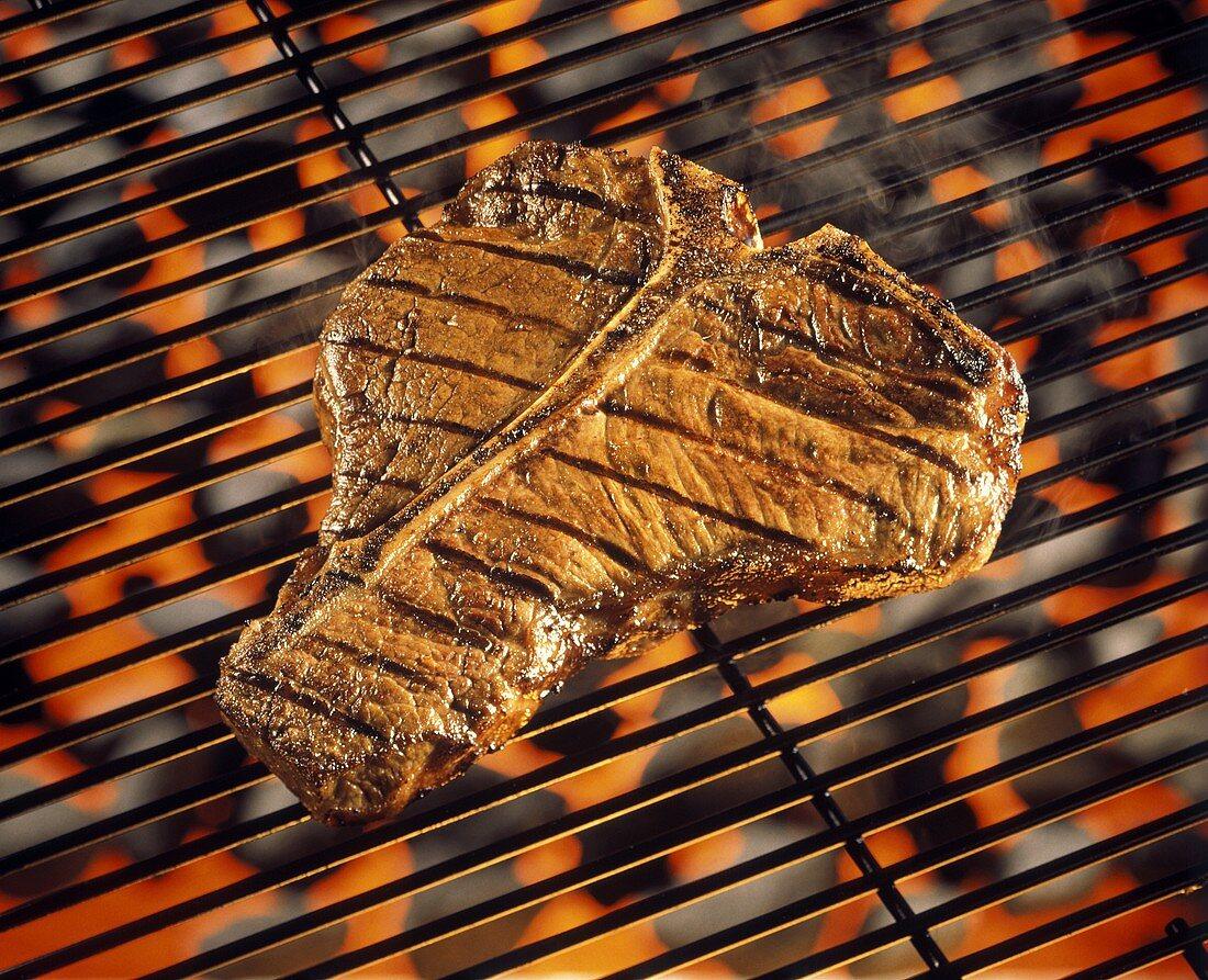T-bone Steak on the Grill