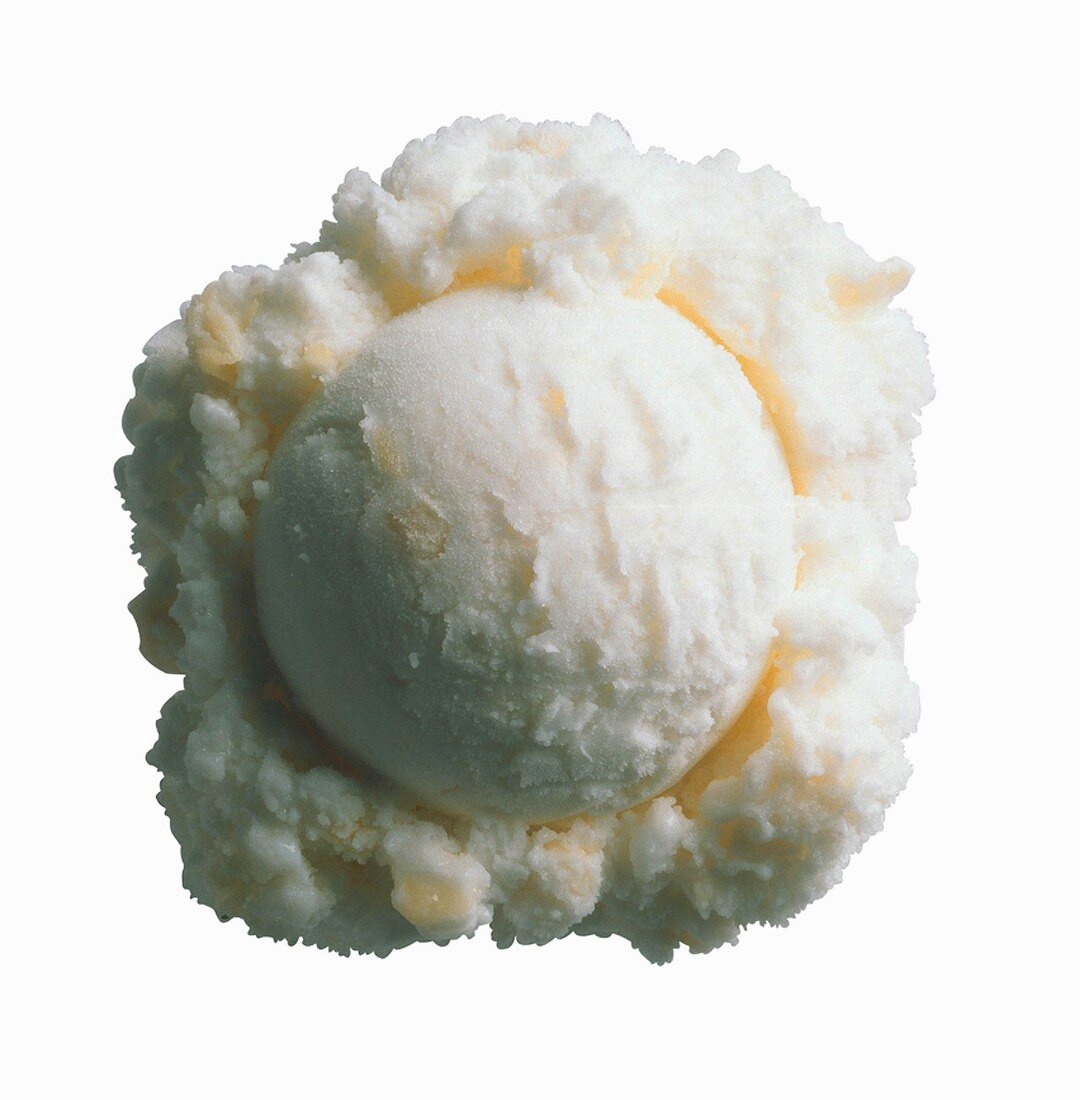 Scoop of Pineapple Sherbet