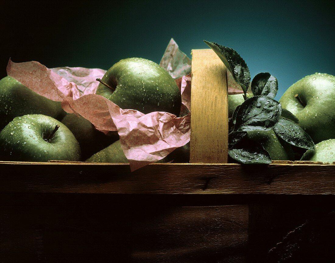Granny Smith Apples in Basket