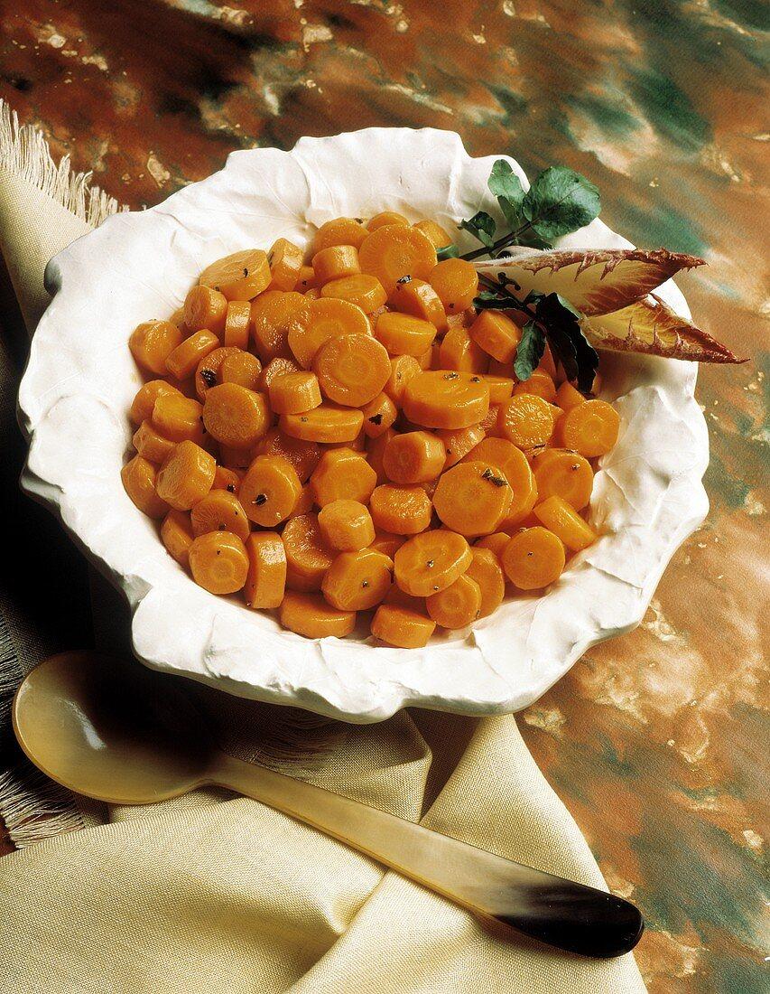 Sliced Carrot Side Dish