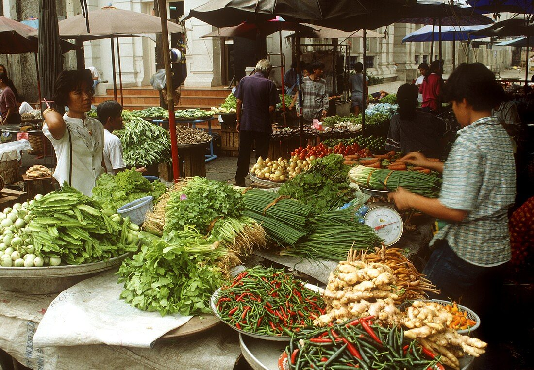 Vegetable Stall in Thailand