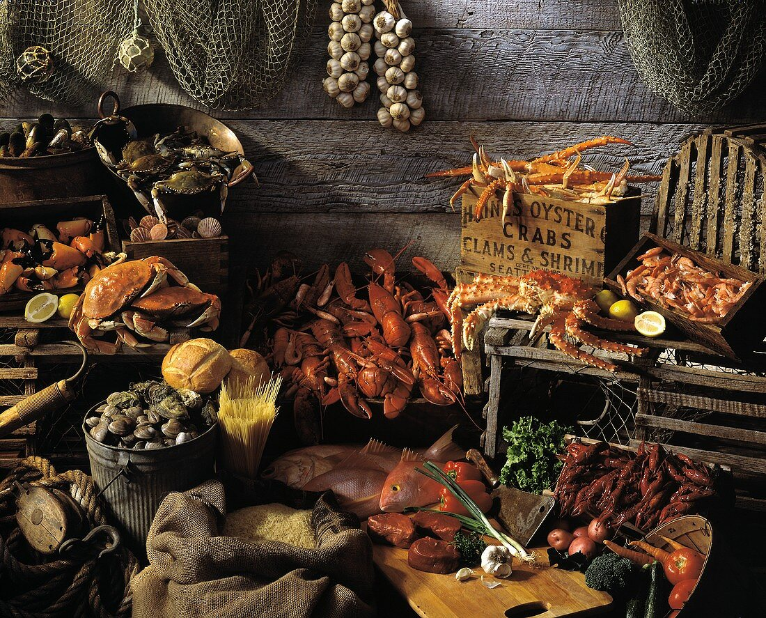 Fresh Seafood Still Life