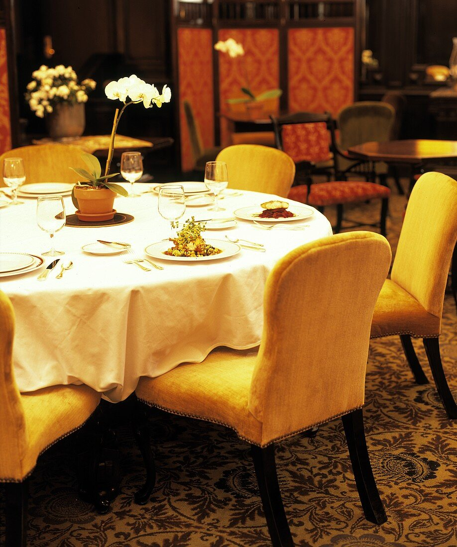 Table Setting at the Algonquin Hotel in New York