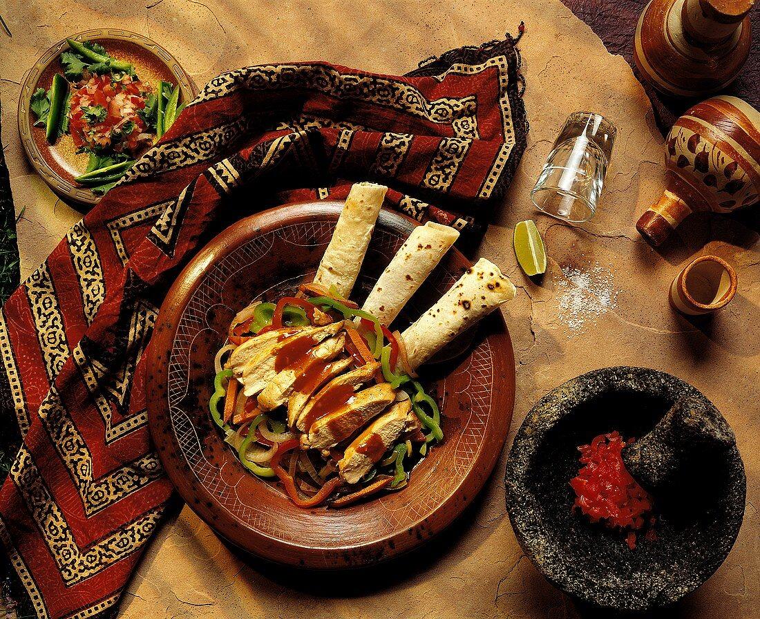 Chicken Fajitas with Fresh Salsa