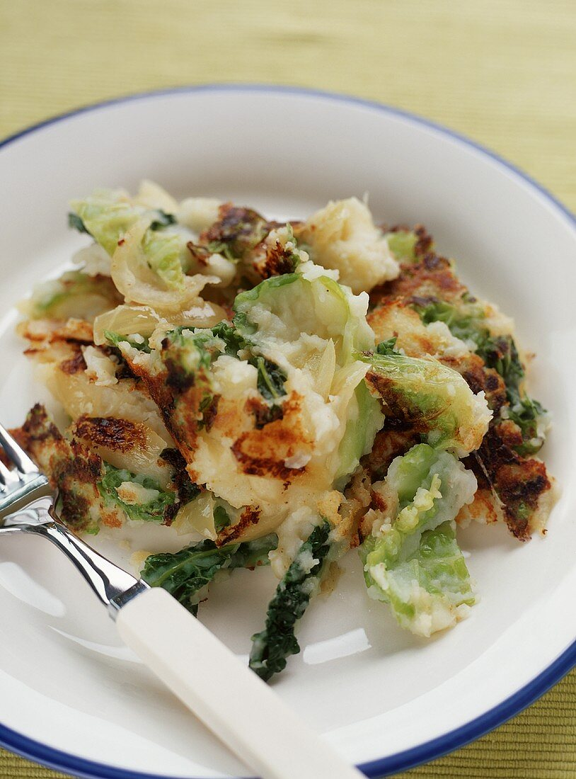 Bubble and Squeak: Potato and Cabbage Pancake