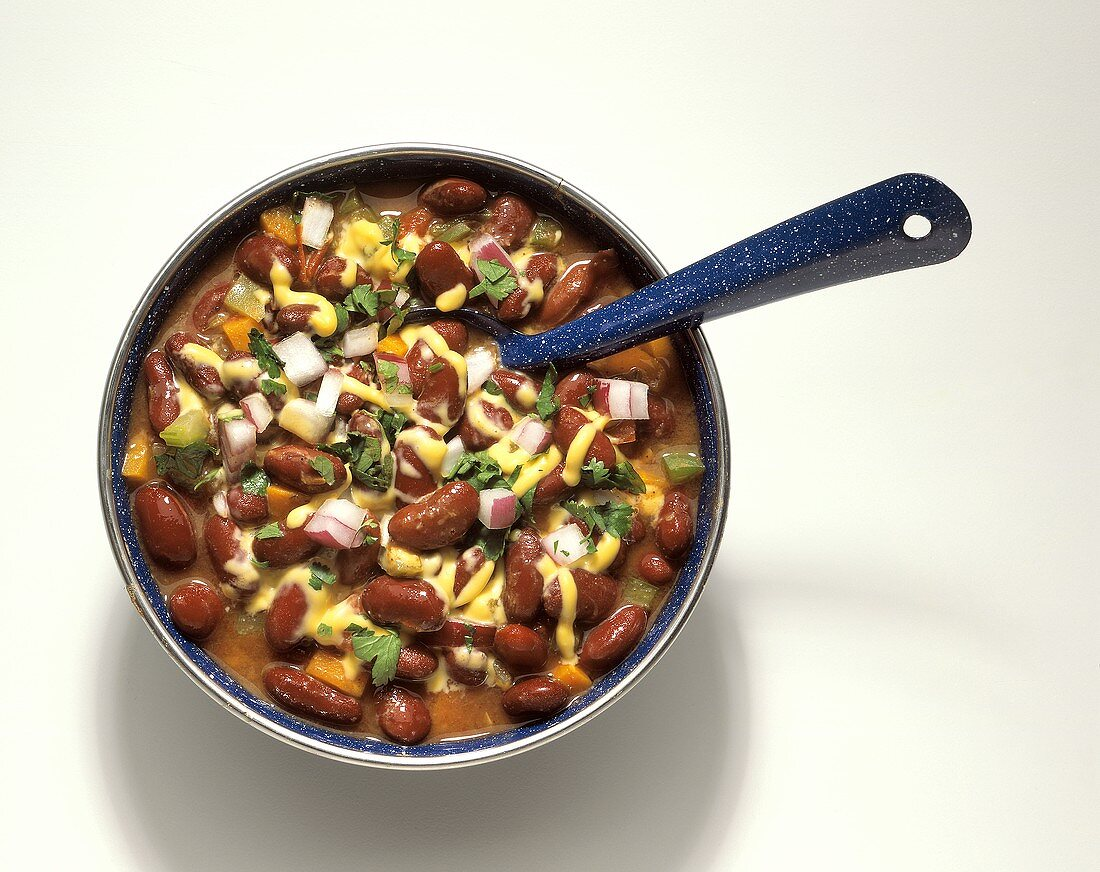 A Bowl of Vegetarian Chili