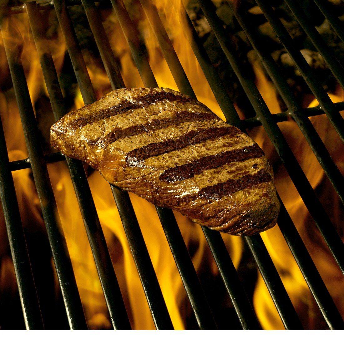 New York Strip Steak on Grill
