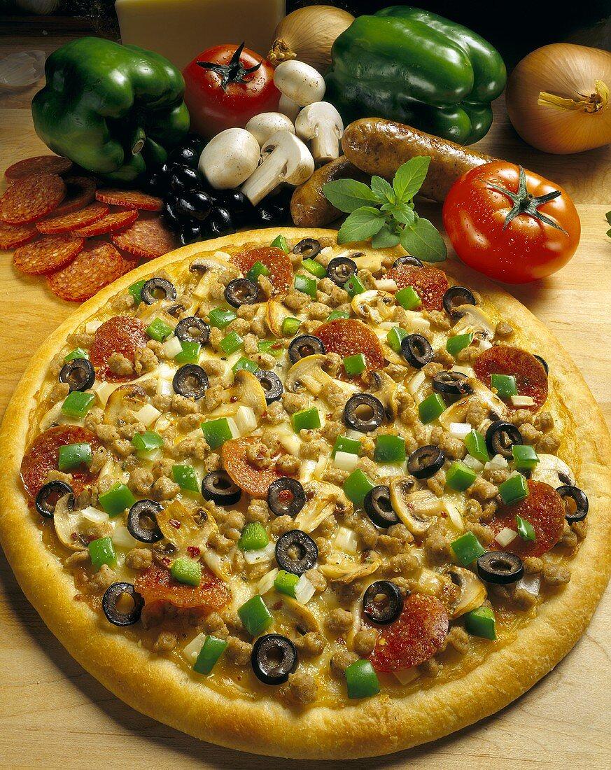 Loaded Pizza with Ingredients
