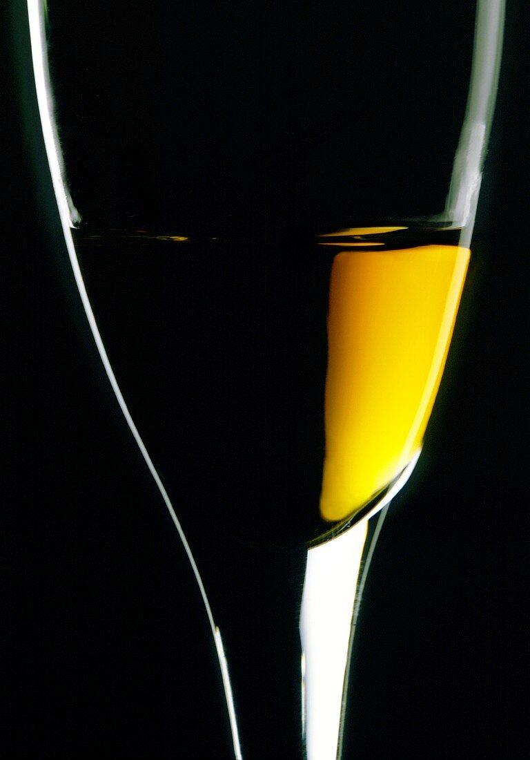 Cognac in glass (close-up)