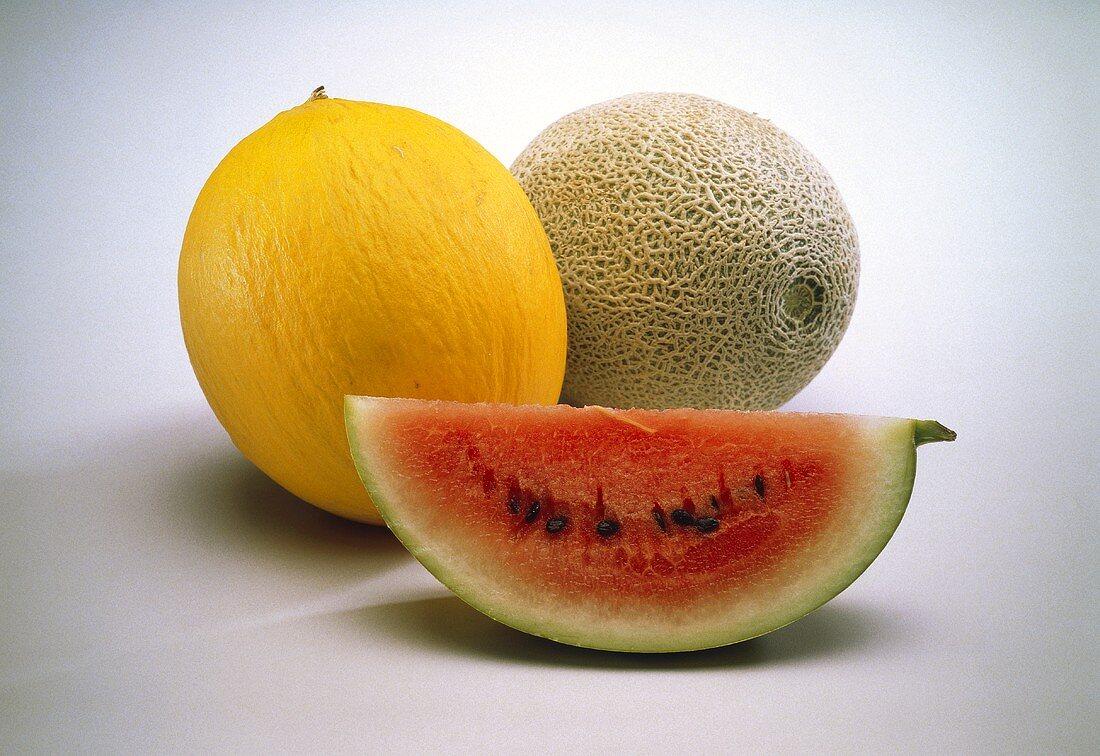 Honeydew and Watermelon; Cantaloupe