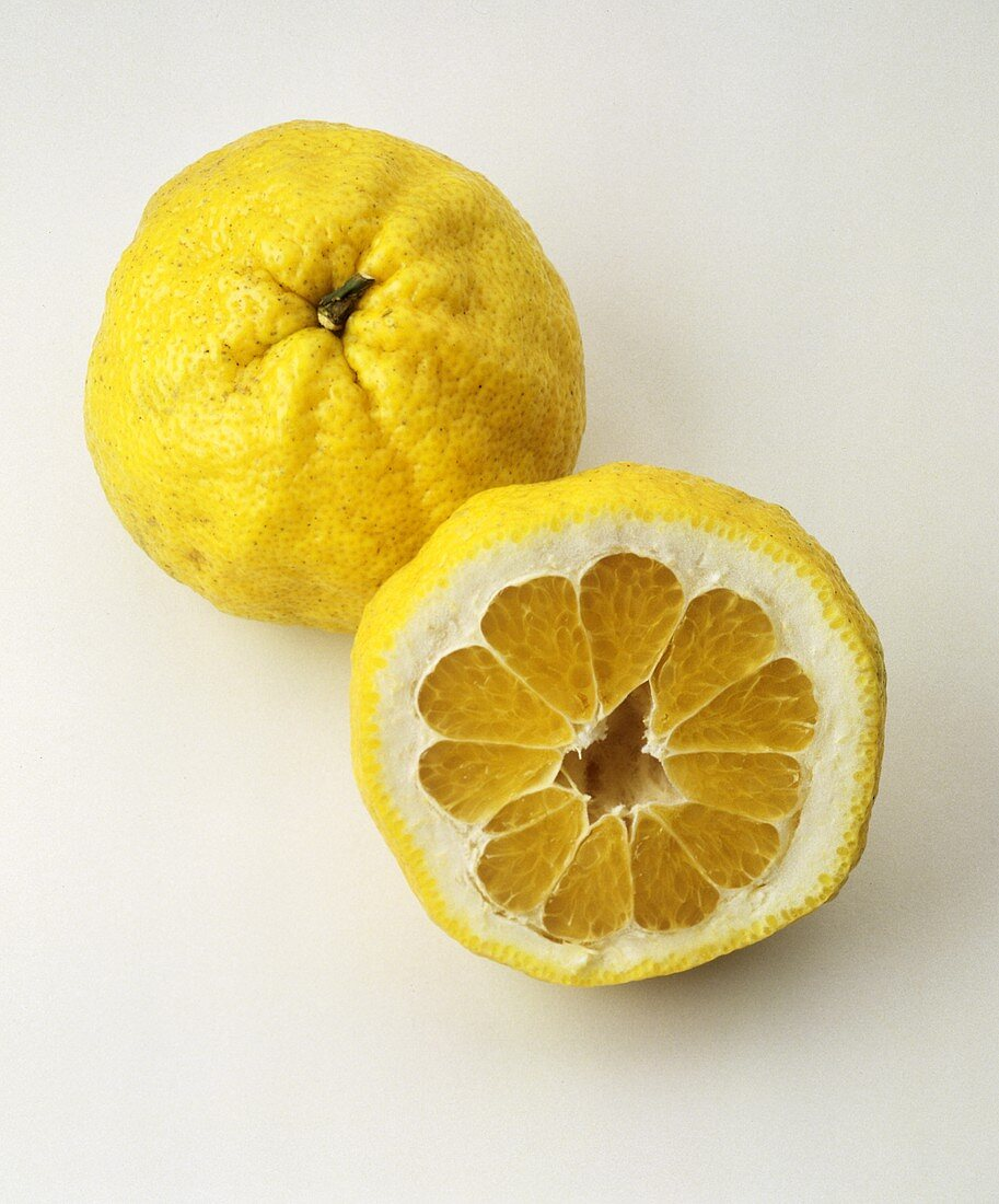 A Whole and Half of an Ugli Fruit