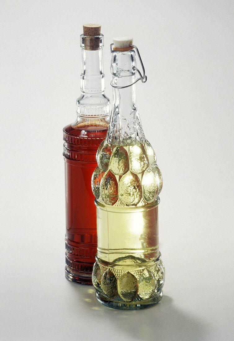 Two Bottles of Assorted Vinegar