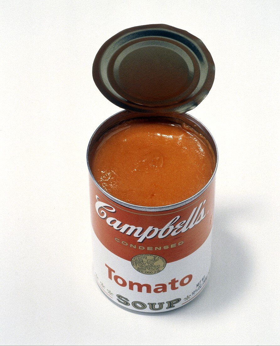 An Opened Can of Cambells Tomato Soup
