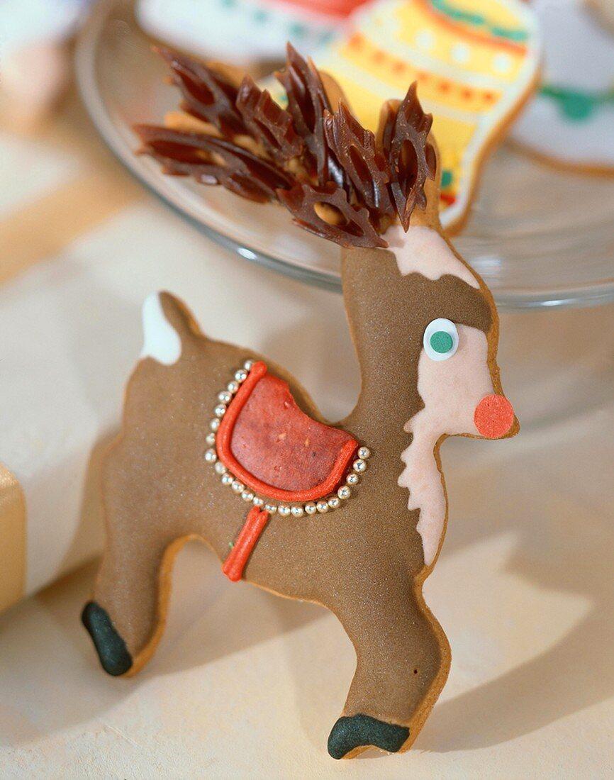 Christmas Reindeer Cookie