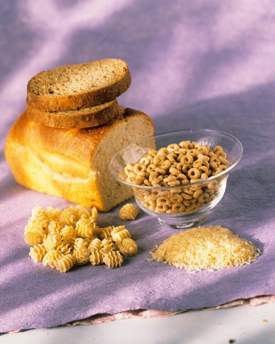 Still Life of Assorted Whole Grain Products
