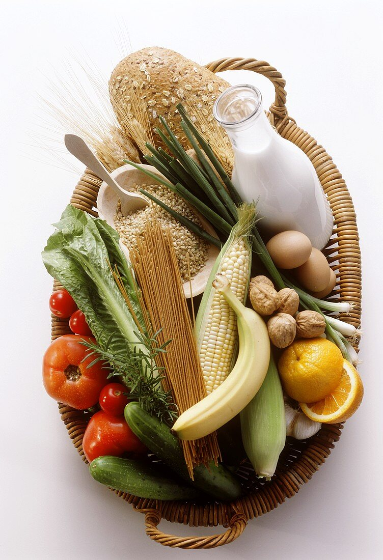 A Basket Full of Assorted Ingredient