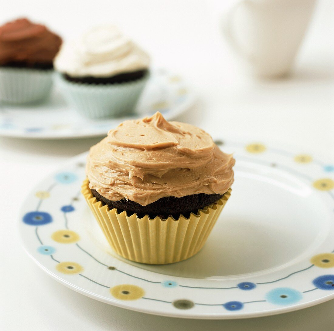 Chocolate cup-cake with peanut butter