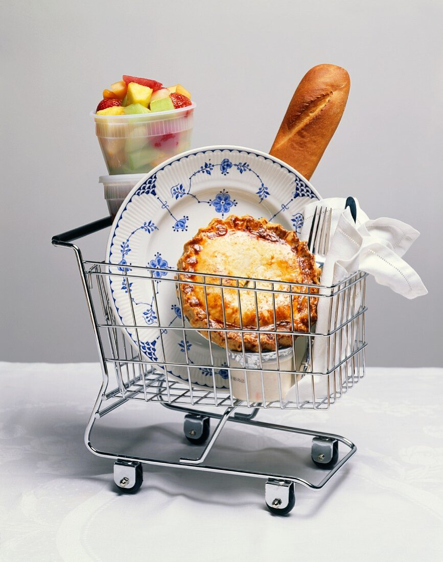 Dinner To Go in a Grocery Cart