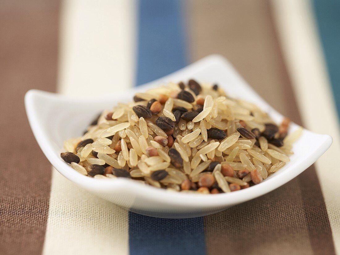 Small Bowl of Brown Rice Medley