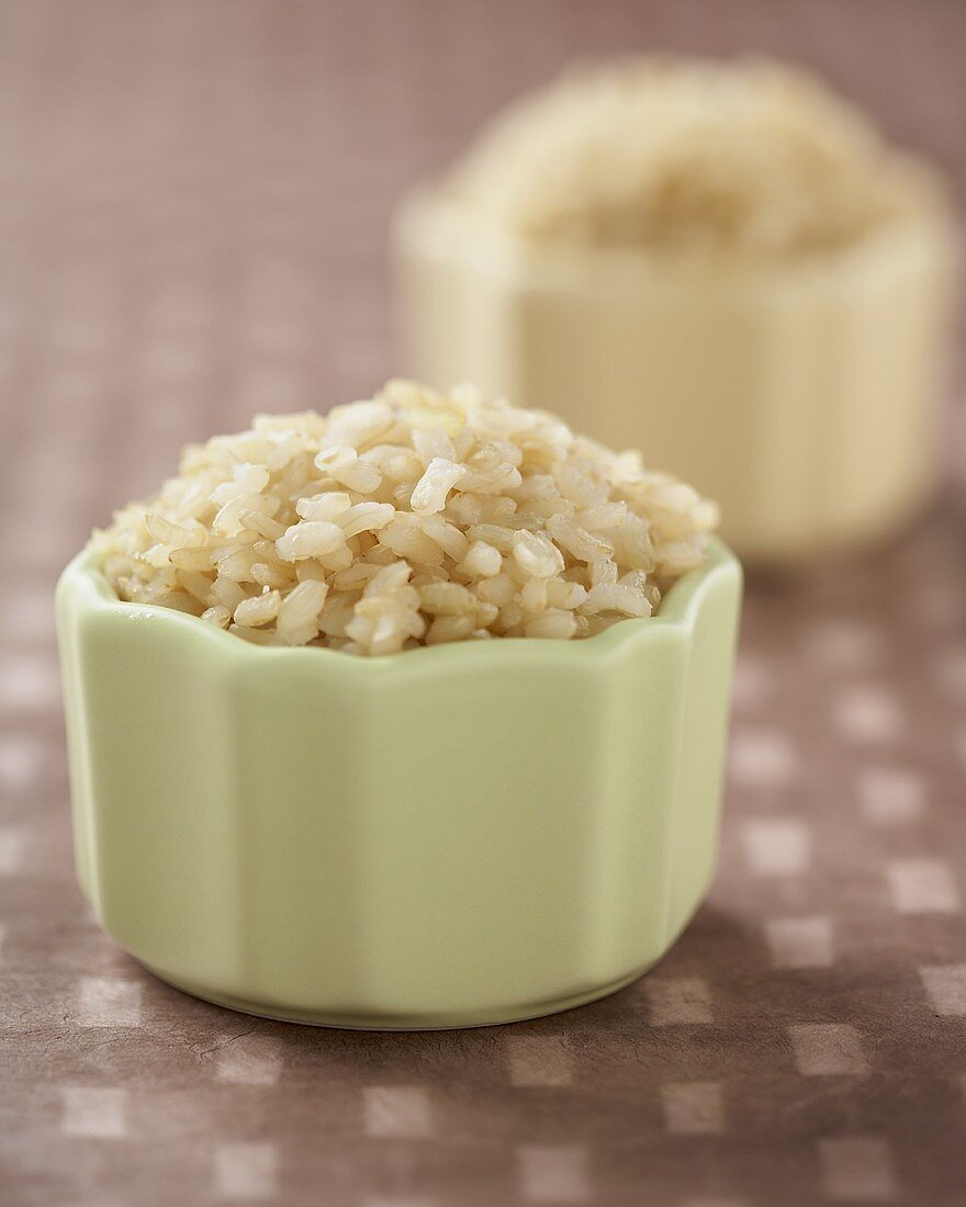 Small Bowl of Cooked Brown Rice