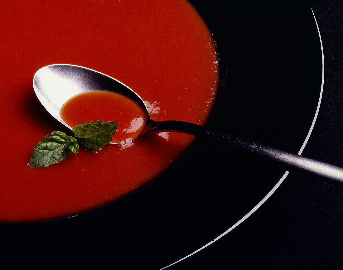 Tomato Cream Soup with Basil