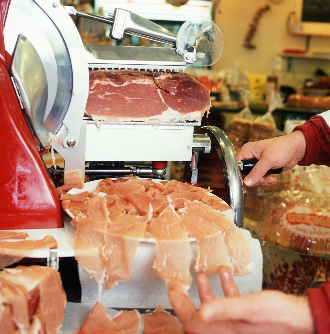Slicing Prosciutto at the Deli