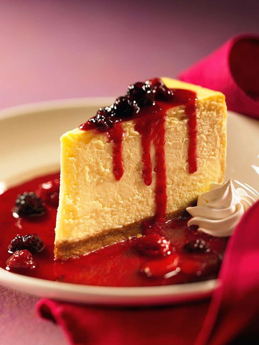 A Slice of Triple Berry Cheesecake
