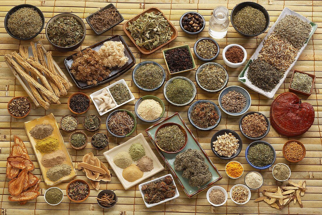 Still Life of Asian Herbs and Spices