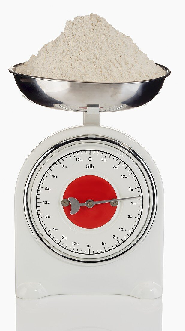 A Baking Scale with Flour