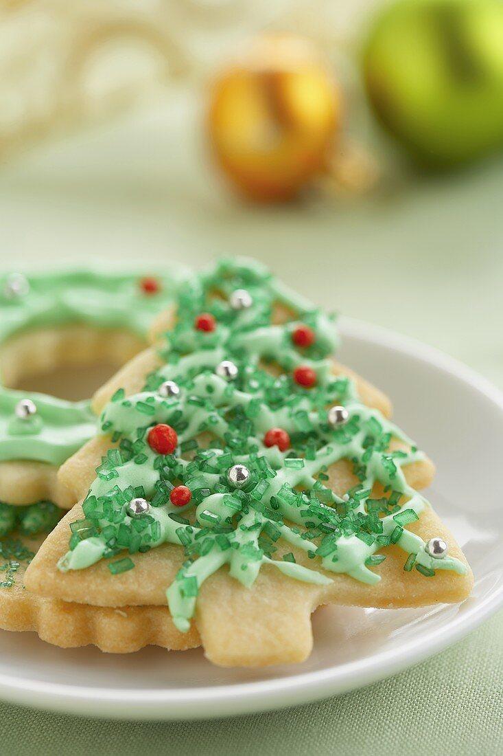 A Christmas Tree Cookie