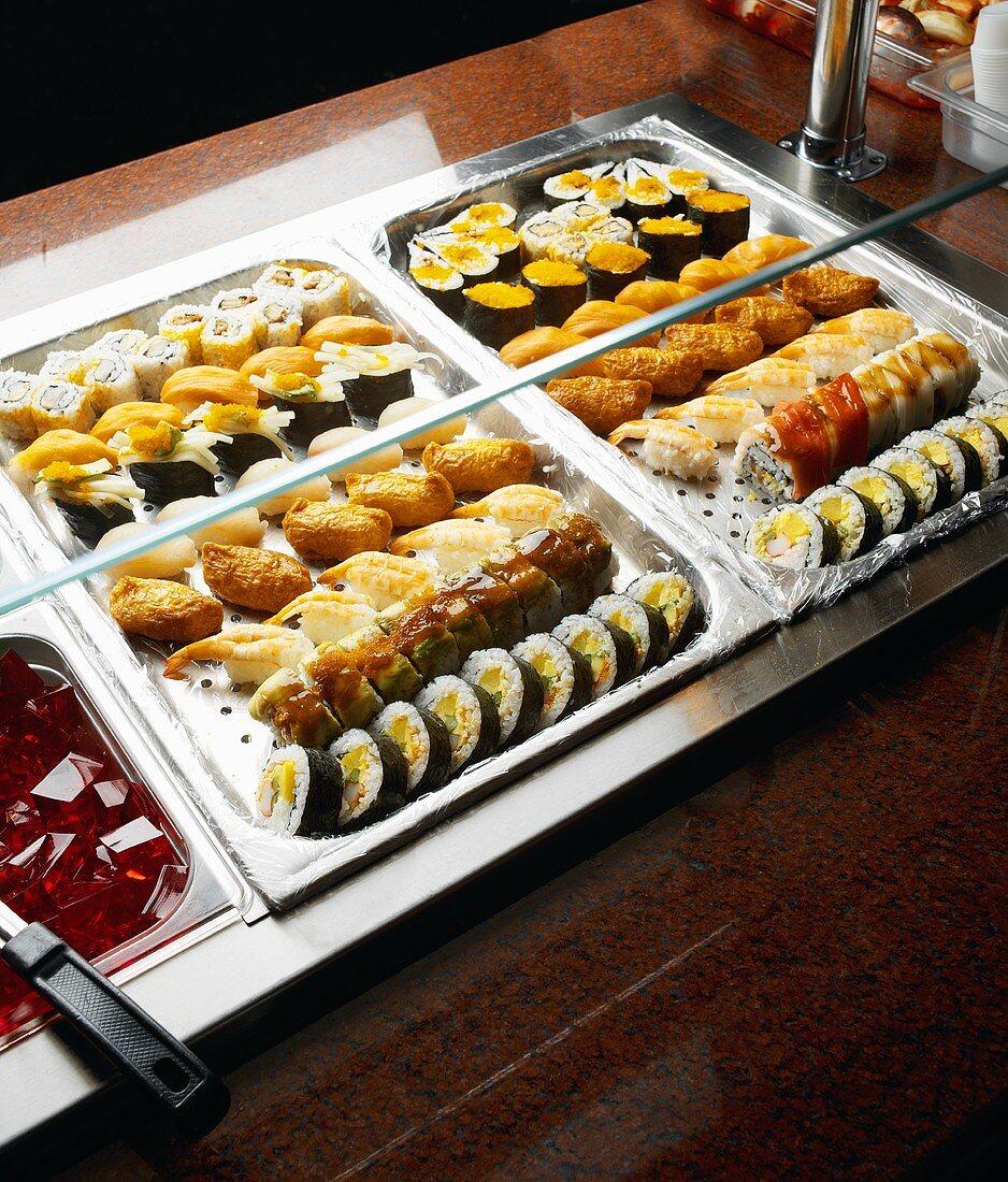 Sushi Bar Set Up in Restaurant Buffet Style