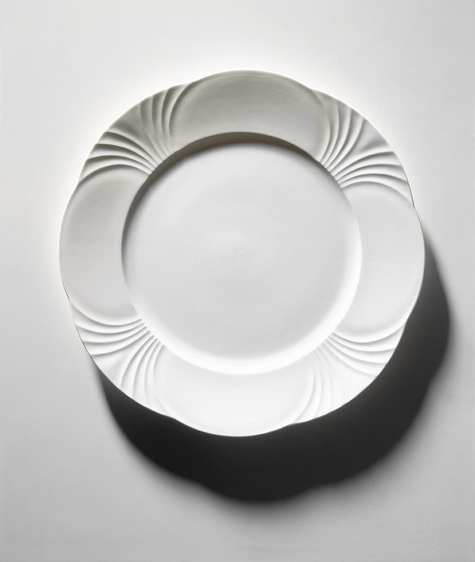 Straight Down on Dinner Plate