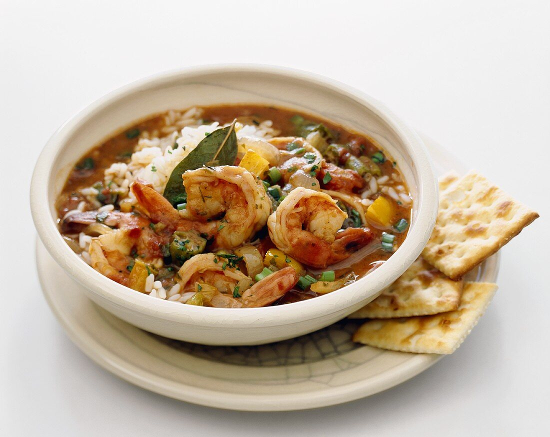 Creole Shrimp Stew Over White Rice