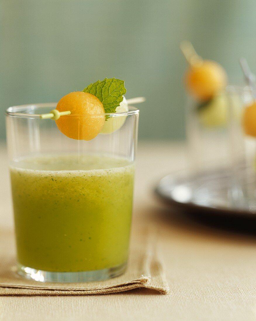 Glass of Melon Basil Aqua Fresca